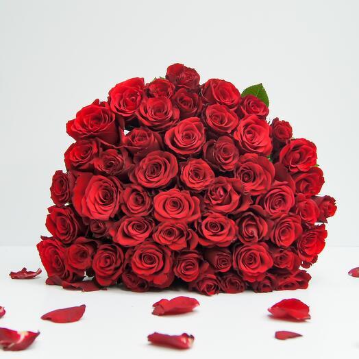 Букет из 51 красных роз (40см)
