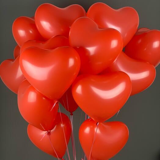 Набор из 20 красных сердец
