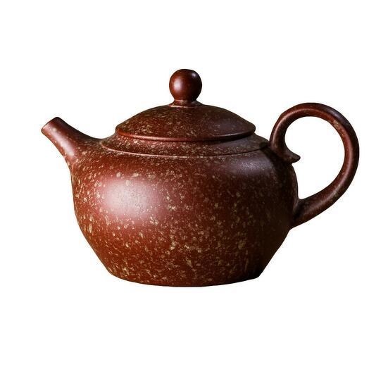 мастеровой чайник ручной работы, красная и зелёная глина, 200 мл, Тайвань 1 шт