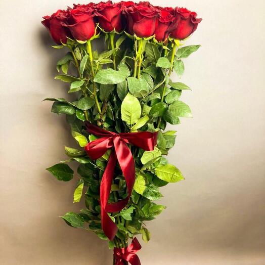 Букет из 15 роз, 110 см