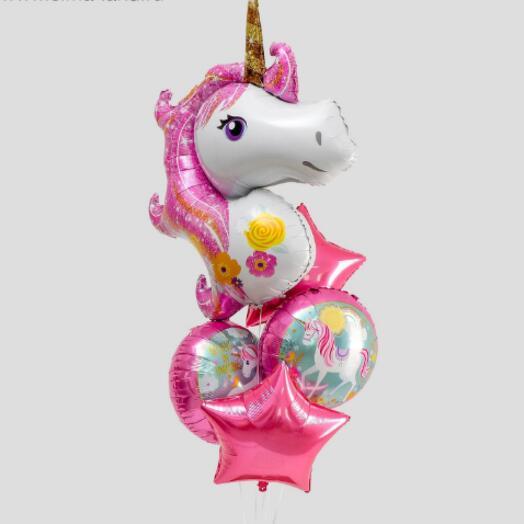 Букет из шаров «Вечеринка принцессы», фольга, набор из 5 шт