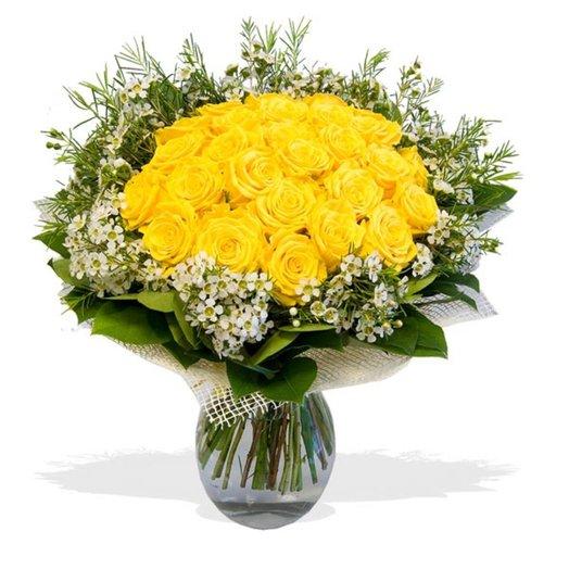Букет из желтых роз Моему солнышку