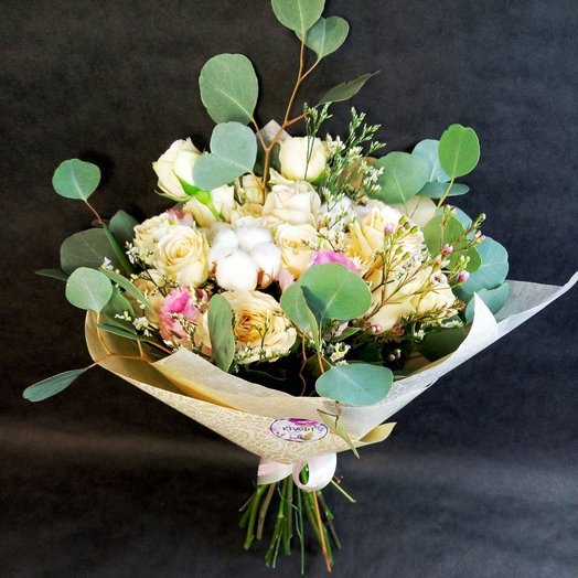 Прекрасный букет из нежных роз: букеты цветов на заказ Flowwow
