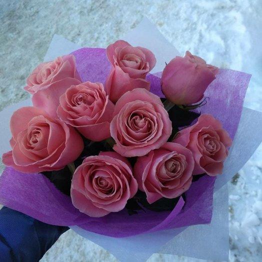 Букет розочки розовые: букеты цветов на заказ Flowwow