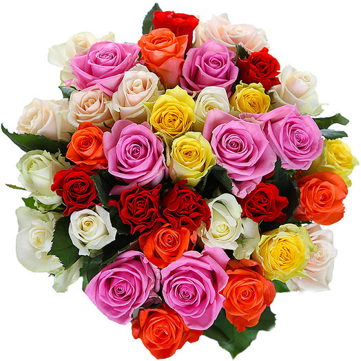 35 роз микс: букеты цветов на заказ Flowwow