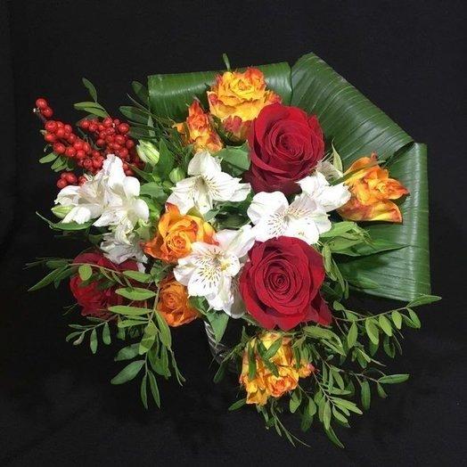 Креативный сюрприз: букеты цветов на заказ Flowwow