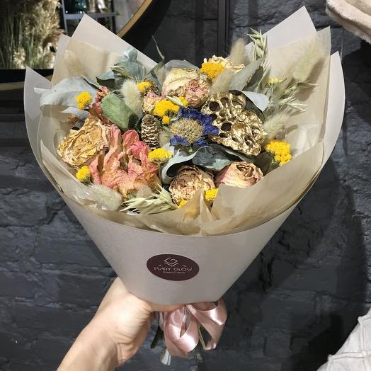 Букет «сухоцветы»: букеты цветов на заказ Flowwow
