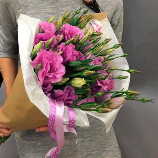 7 эустом в крафте: букеты цветов на заказ Flowwow