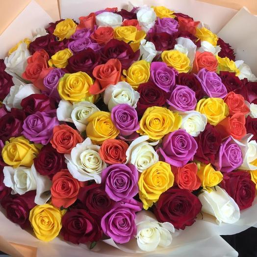 Микс Цвета: букеты цветов на заказ Flowwow