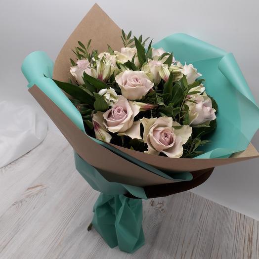 "Букет ""Аквамарин"": букеты цветов на заказ Flowwow"