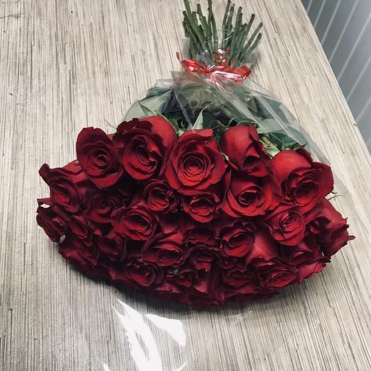 Букет из 39 роз Эквадор, 60 см: букеты цветов на заказ Flowwow