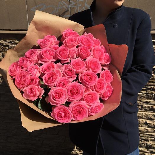 Розовый букет: букеты цветов на заказ Flowwow