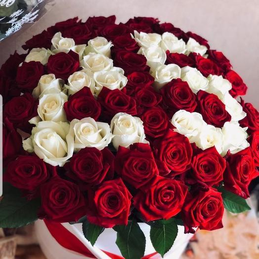 Шляпная коробка Юбилей: букеты цветов на заказ Flowwow