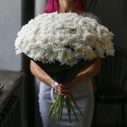 """Букет из """"15 белых кустовых хризантем"""": букеты цветов на заказ Flowwow"""