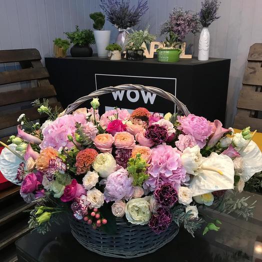 """Цветы в корзине """"Сказочное очарование"""""""