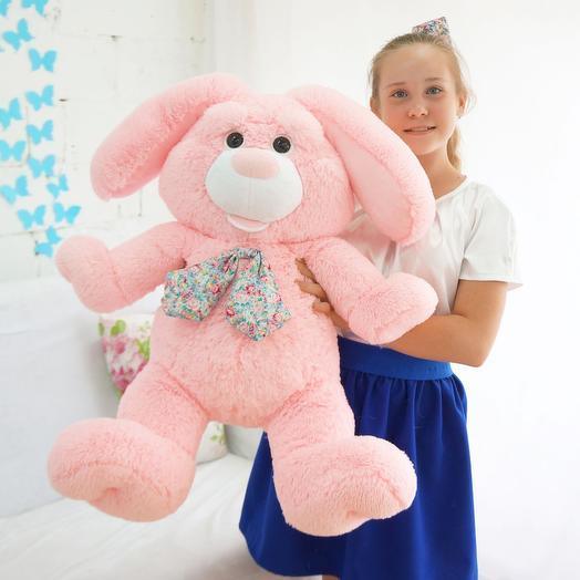 Заяц Бакс 85 см розовый: букеты цветов на заказ Flowwow