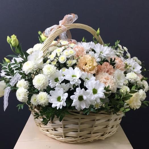 "Корзина ""Белое облако"": букеты цветов на заказ Flowwow"