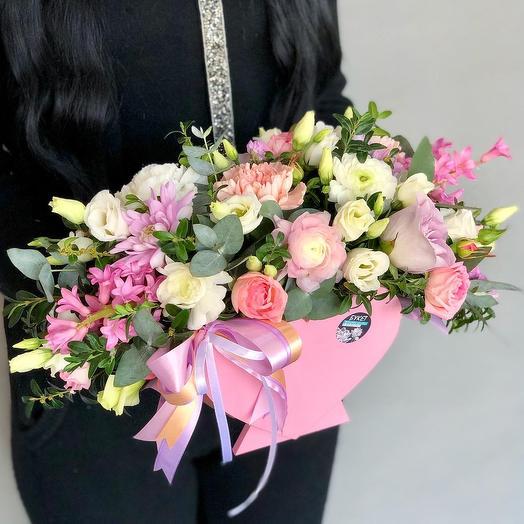 Цветочное сердечко