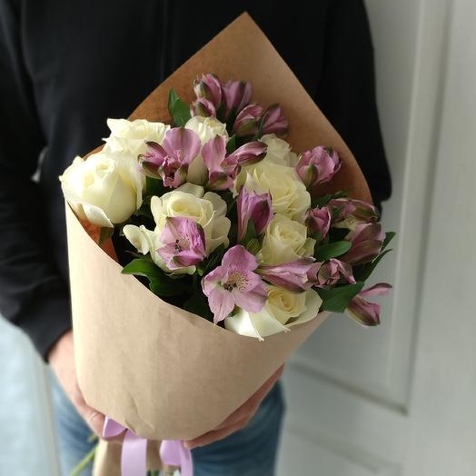 Флора. Альстромерии и розы