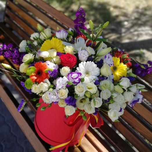 ✅ Большой цилиндр с цветами