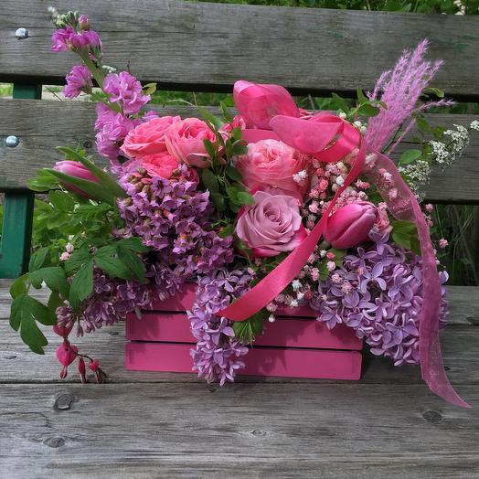 Розовый балкон
