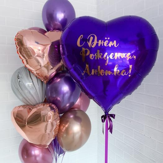 Набор шаров на день рождения для девушки