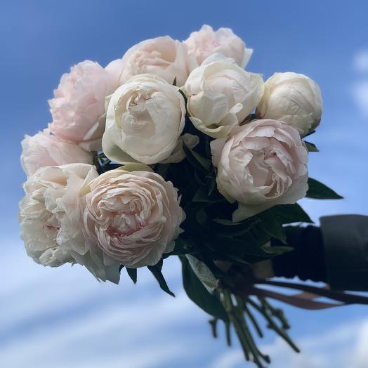 Охапка пионов: букеты цветов на заказ Flowwow