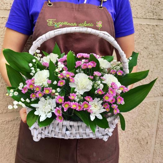 Композиция в корзине ВЕСНА: букеты цветов на заказ Flowwow