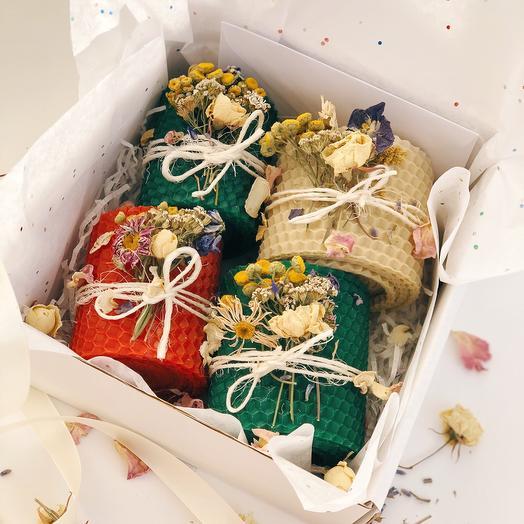 Подарочный бокс медовые свечи