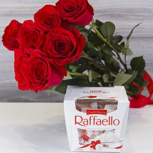 ✅ Красные розочки с Raffaello