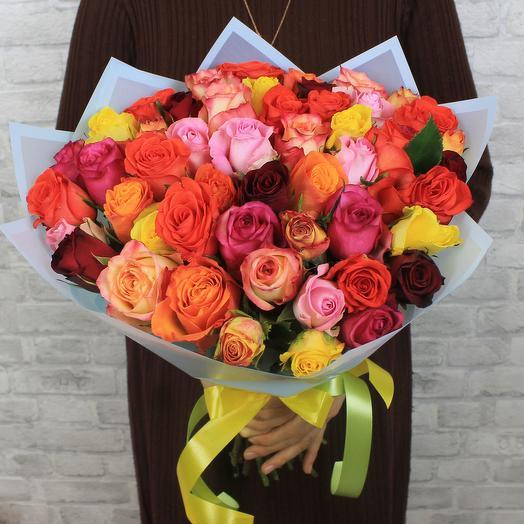 Букет микс 51 роза Кения