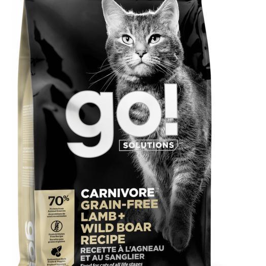 GO! беззерновой корм для котят и кошек с ягненком и мясом дикого кабана 3,63 кг