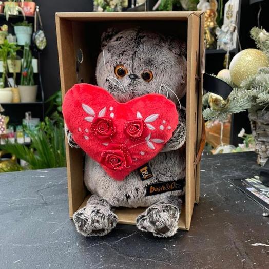 Басик с красным сердечком 22 см