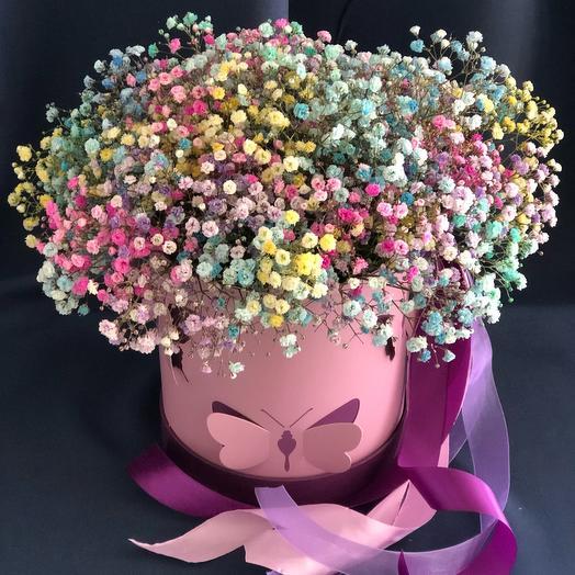Цветы в коробке «Медовый аромат»