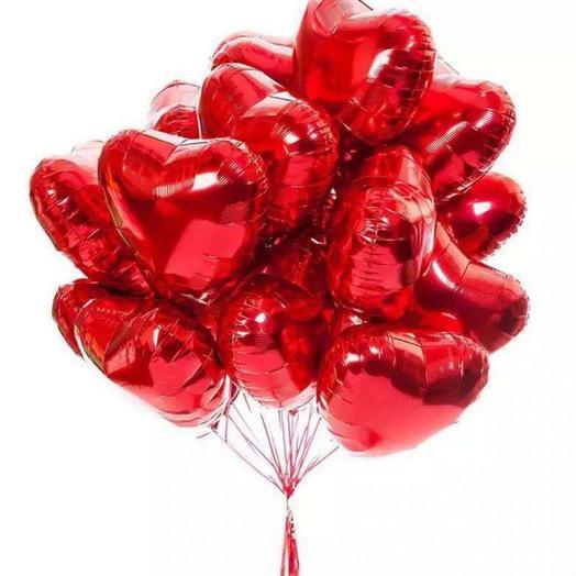 Шар сердце фольга микс