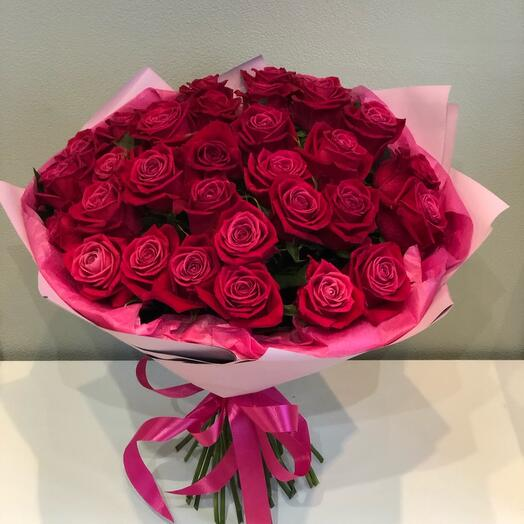 Букет 51 роза Лола