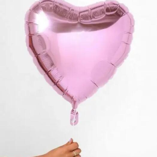 Шар фольгированный «сердце» розовый 12