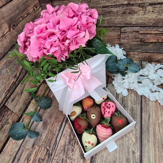 Шкатулка Розовая Гортензия