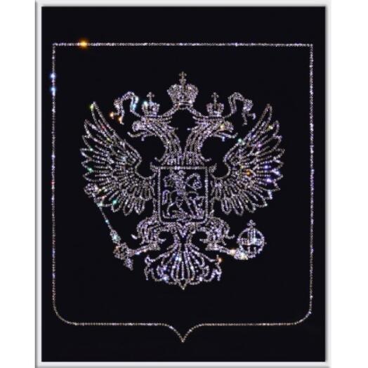 """Картина с кристаллами Swarovski """"Герб России"""""""