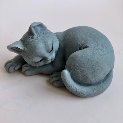Мыло ручной работы кошка спит