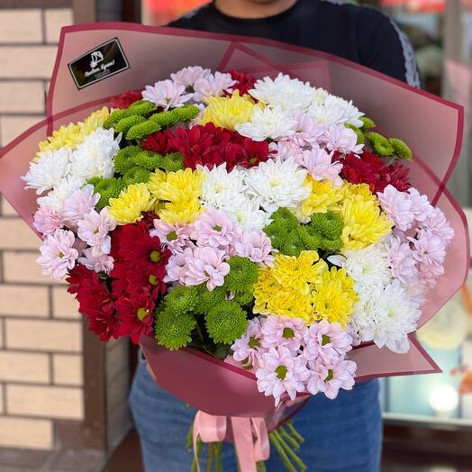 25 кустовых хризантем