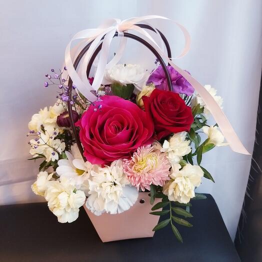 """Цветы в сумочке """"Весёлое настроение"""""""