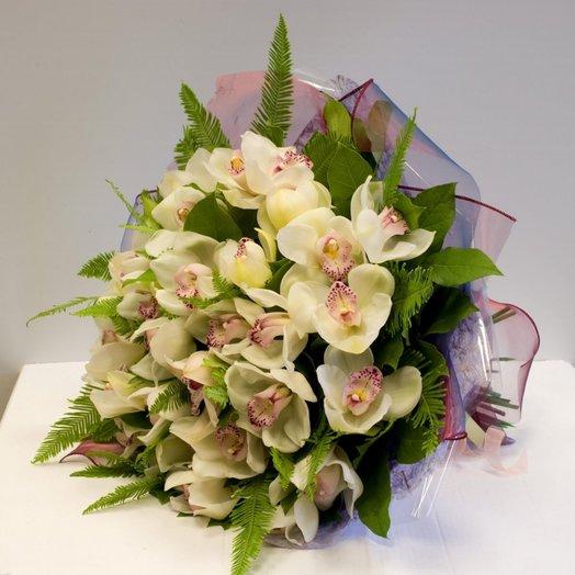Букет из орхидей цимбидиум: букеты цветов на заказ Flowwow