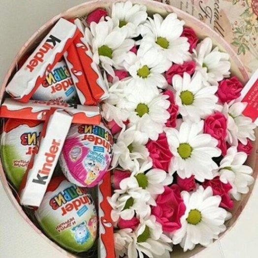 Ромашки и Конфеты: букеты цветов на заказ Flowwow