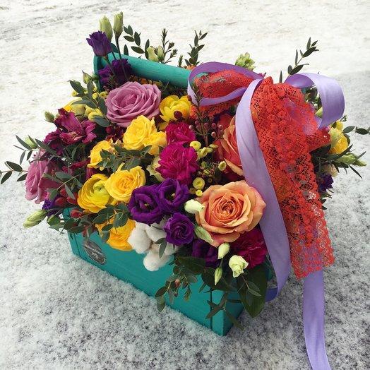 Бокс с цветами 2: букеты цветов на заказ Flowwow