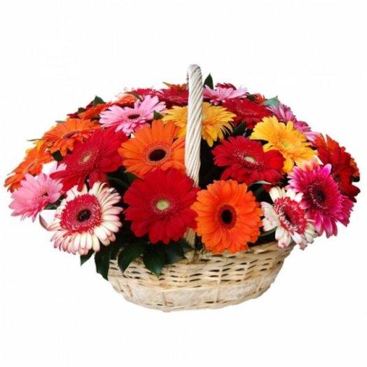 41 гербера в корзине: букеты цветов на заказ Flowwow