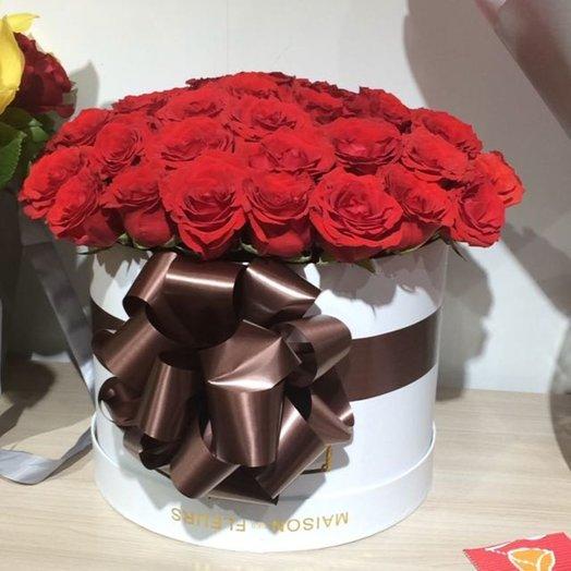 Коробка шляпная 51 роза
