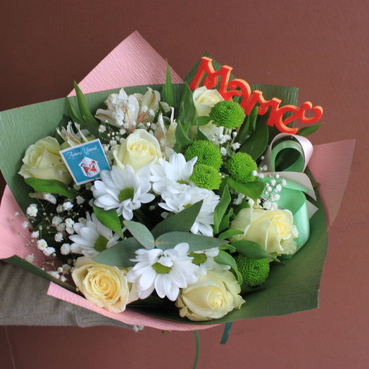 Весенний сад с топпером: букеты цветов на заказ Flowwow