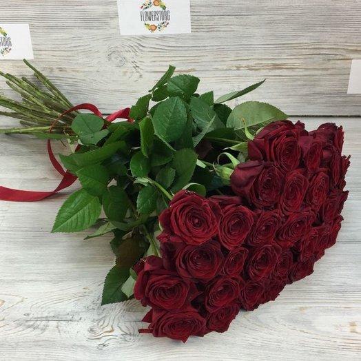 Розы. Букет из 25 красных роз. N56: букеты цветов на заказ Flowwow