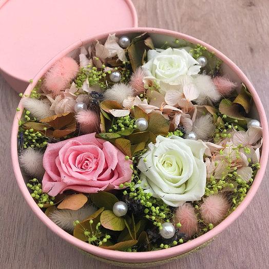 Цветочная коробочка Pink: букеты цветов на заказ Flowwow